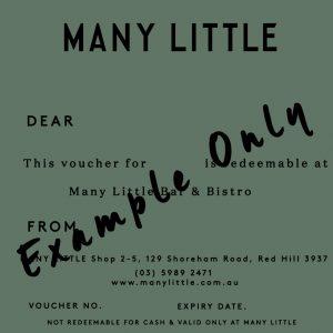 Many Little Gift Voucher
